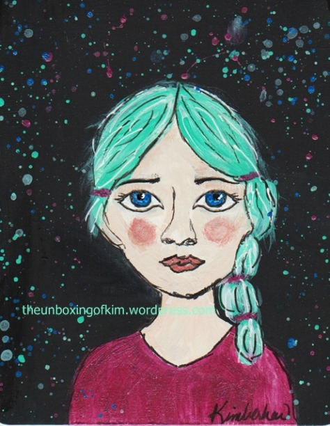 Lena with teal hair kimberhew doe eyes blog